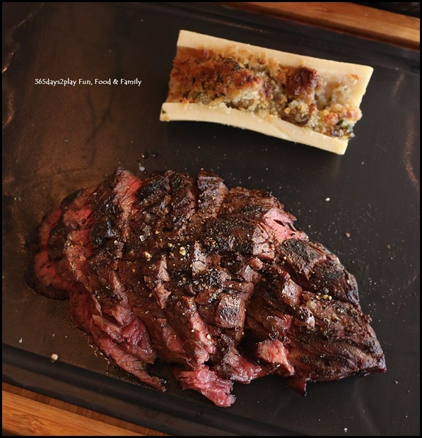 Grand Hyatt Melbourne Collins Kitchen - Hangar Steak and Bone Marrow (250gm) $36 (1)
