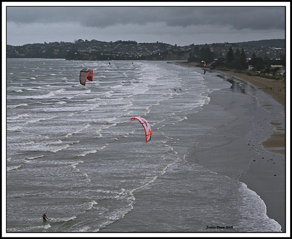 Kite Surfing at Orewa Beach