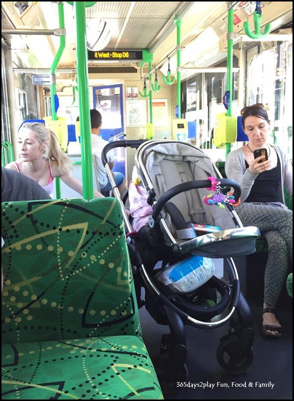 Stroller in Melbourne Tram