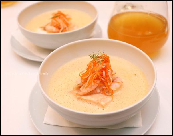 Fisk - Creamed Fish & Shellfish Soup (with crudite of heirloom veg)