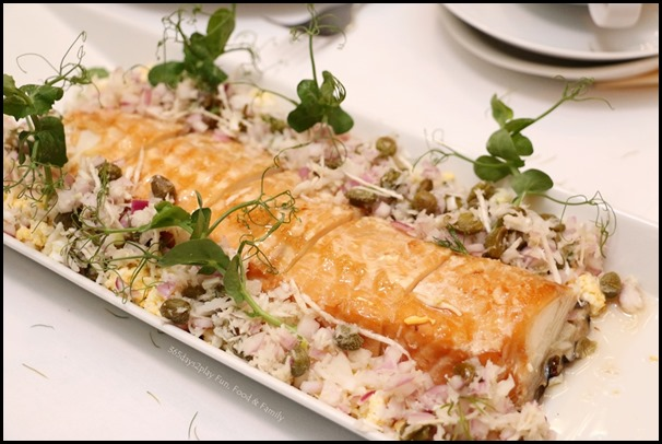 Fisk - Hot Smoked Wolf Fish (with hard boiled egg, grated horseradish and brown butter)