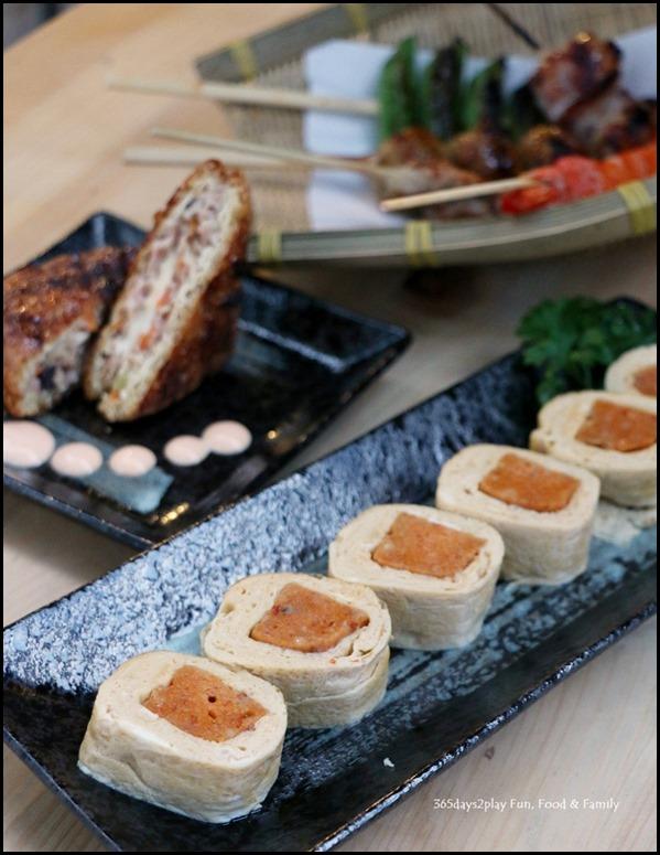 Iza - Otah Tamago (Japanese-rolled omelette filled with otah goodness) $6.90