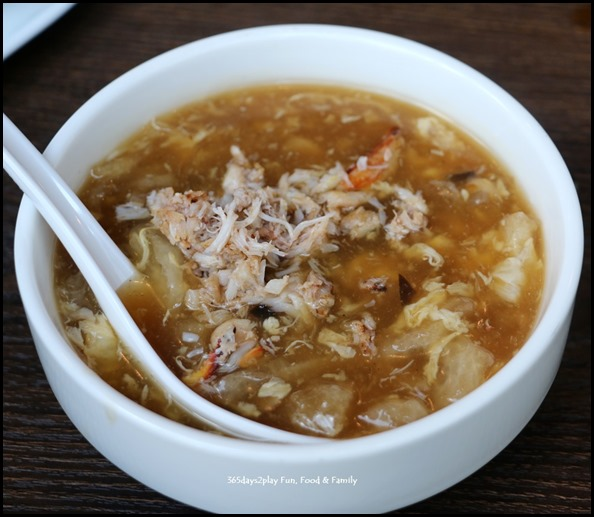 Myo Restobar - Fish Maw, Crab Meat in Superior Broth $9