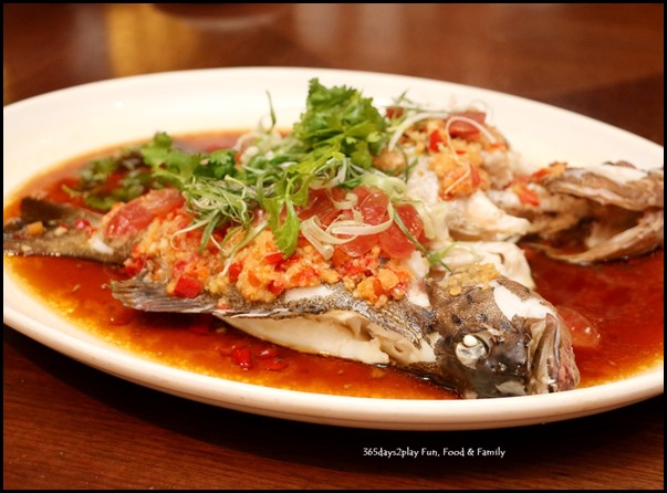 Pan Pacific Singapore CNY 2018 - Steamed grouper fish with preserved meats