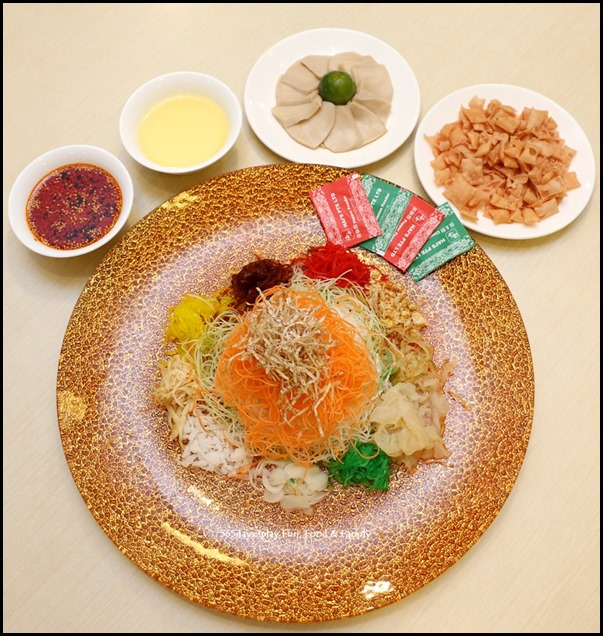 Prosperity Lo Hei with Abalone Slices (Jelly Fish & Spicy Sauce) (2)
