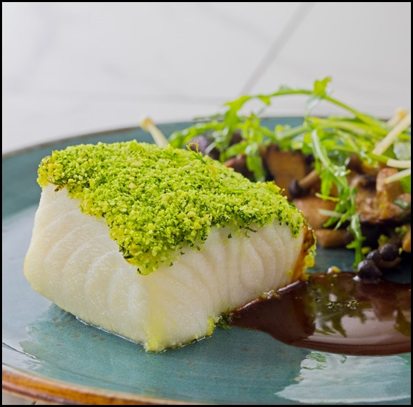 Verde Kitchen - Organic Basil-crusted Glacier 51 Tooth Fish ($38  )