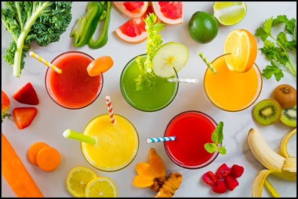 Verde Kitchen - Selection of Fresh Fruit Juices