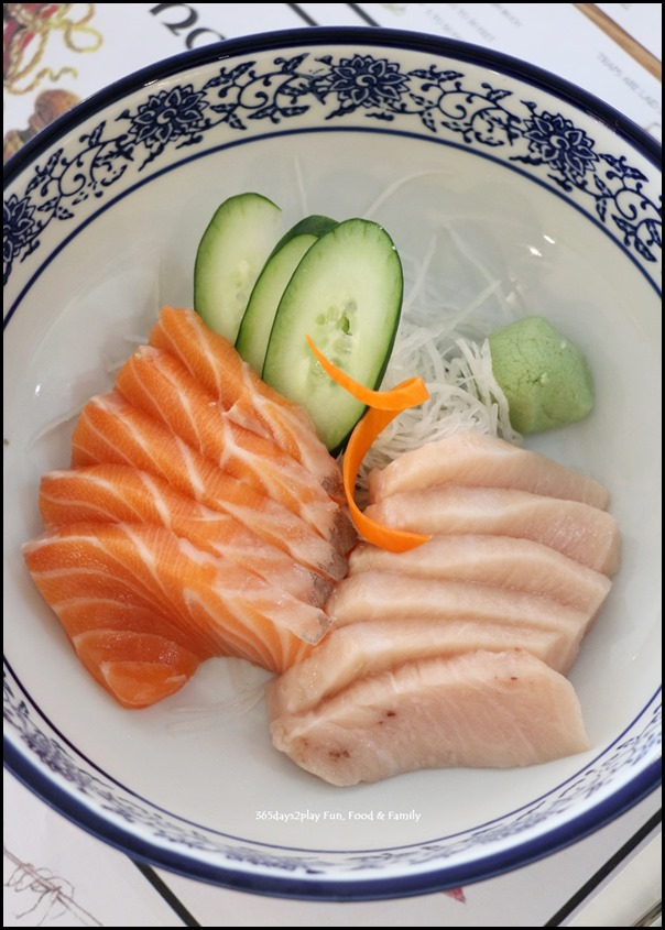 Greenwood Fish Market - Salmon sashimi $16.95 and Swordfish $18.95