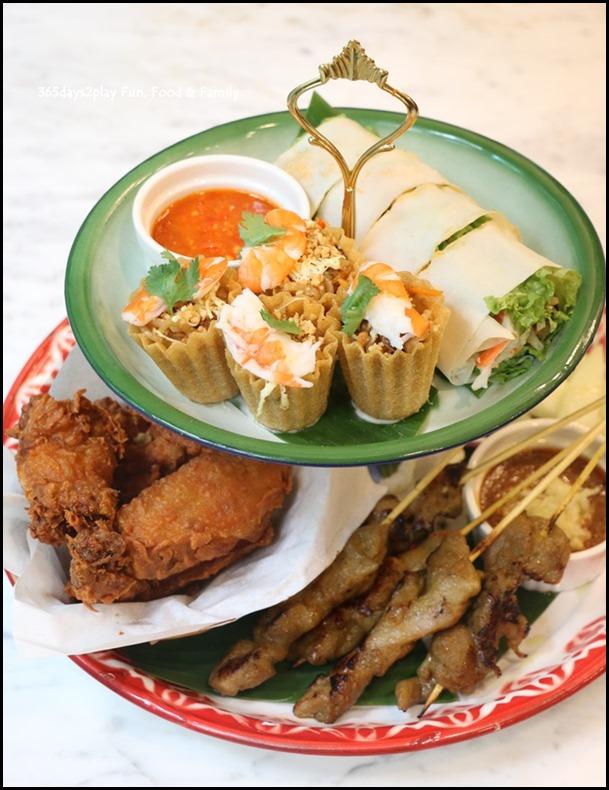 Colonial Club - Colonial Platter (Kueh Pie Tee, Satay, Inche Cabin, Popiah) $18.90