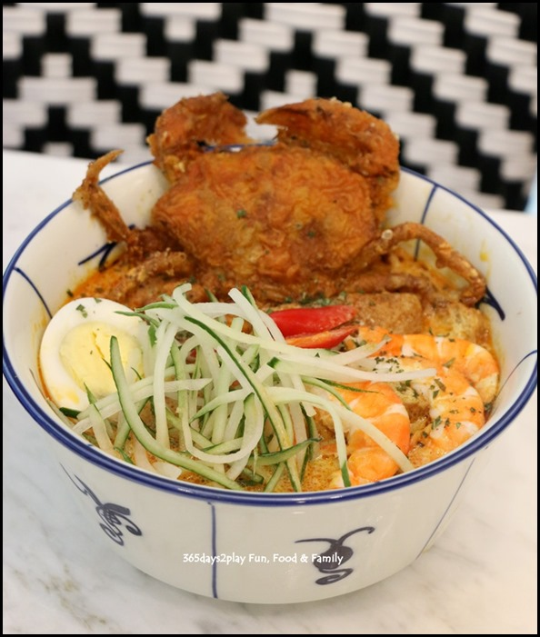 Colonial Club - Straits Nyonya Laksa with soft Shell Crab $18.90