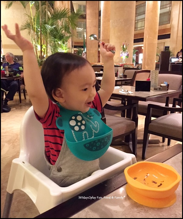 Enjoying ourselves at Fullerton Hotel's Chocolate Buffet (2)