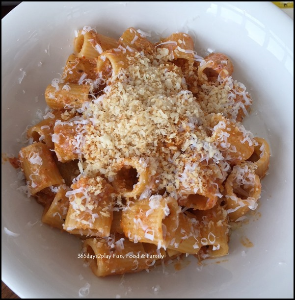 Caffe Fernet - Spicy Rigatoni with pork fennel sausage and smoked ricotta $26