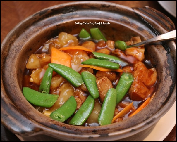 Hai Tien Lo Claypot dishes - Bean Gluten with Pork Tendons and Garlic