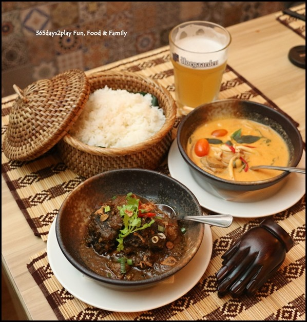 River Wok - Ayam Buah Keluak and Gaeng Phed Ped Yang
