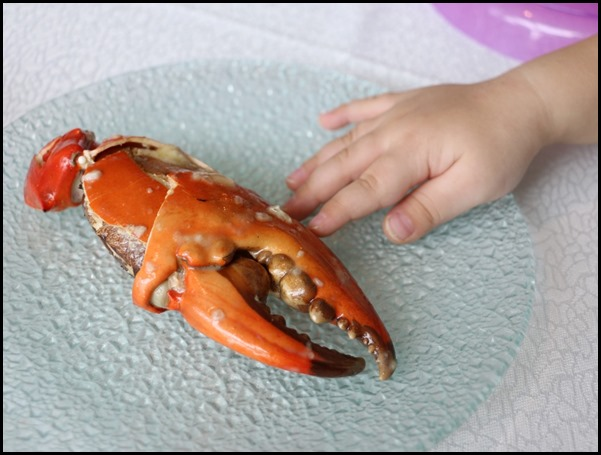 Majestic Bay Seafood - Sauteed mud crab with basil leaves in white wine sauce (1)