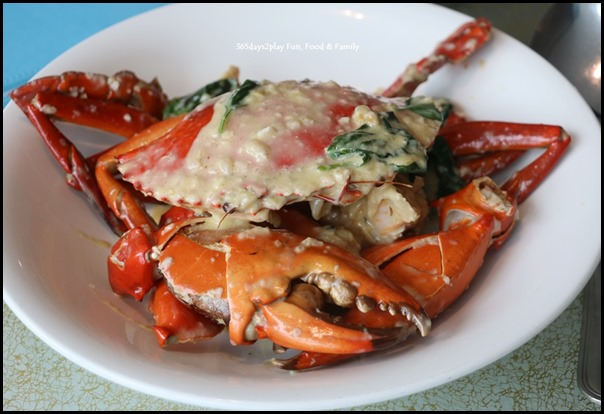 Majestic Bay Seafood - Sauteed mud crab with basil leaves in white wine sauce $68