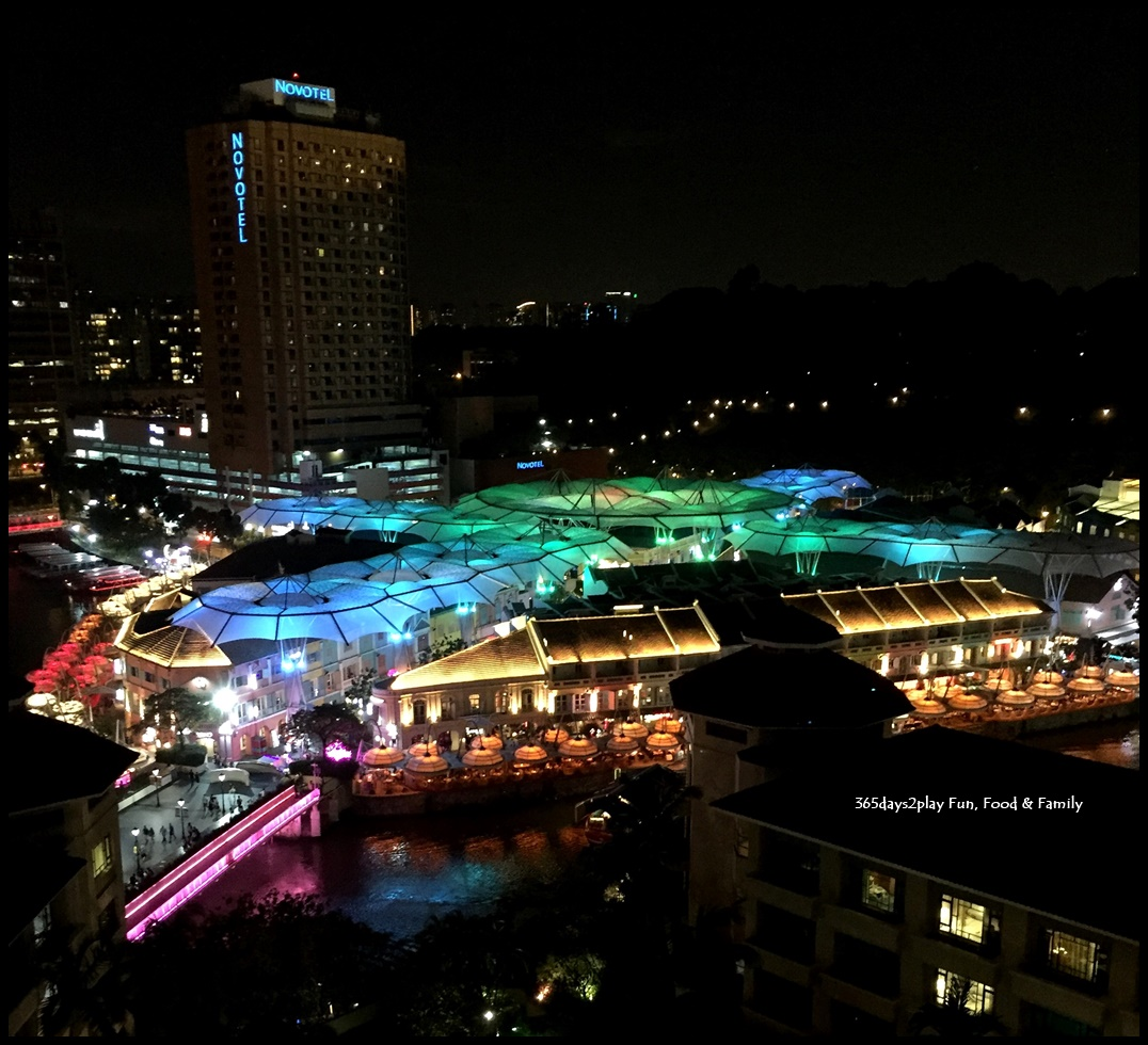 Clarke Quay's colourful roof from Swissotel Merchant Court