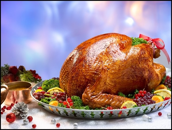 Marriott Cafe - Roast Turkey with Chestnut Bread Stuffing