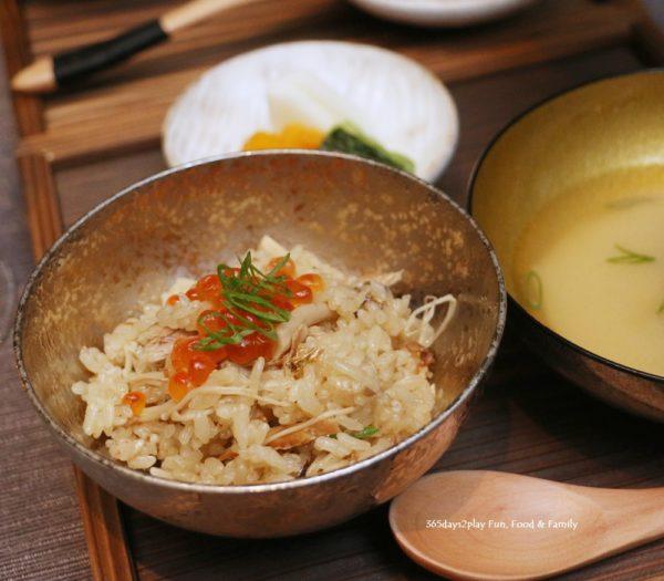 Rizu - Seasonal Japanese Paella with Miso Soup (Saury Fish)