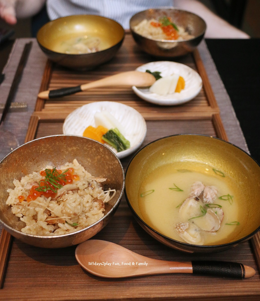 Rizu - Seasonal Japanese Paella with Miso Soup (Saury Fish)