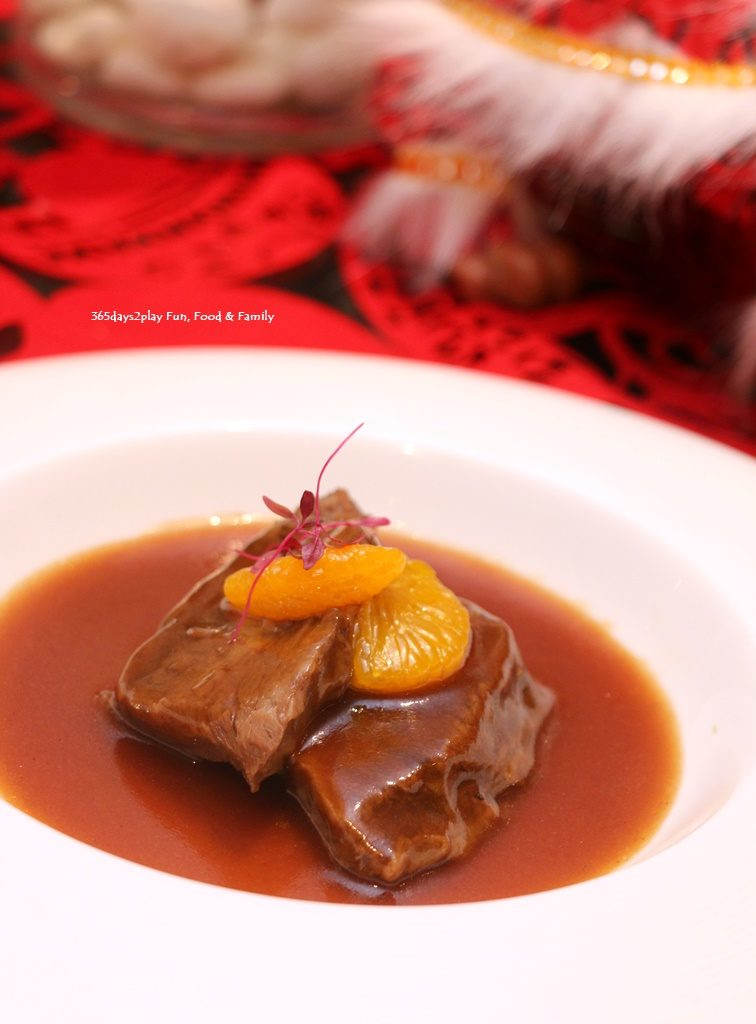 Wan Hao Marriott Chinese New Year Menu - Braised US Short Rib (Boneless) with mandarin orange peel