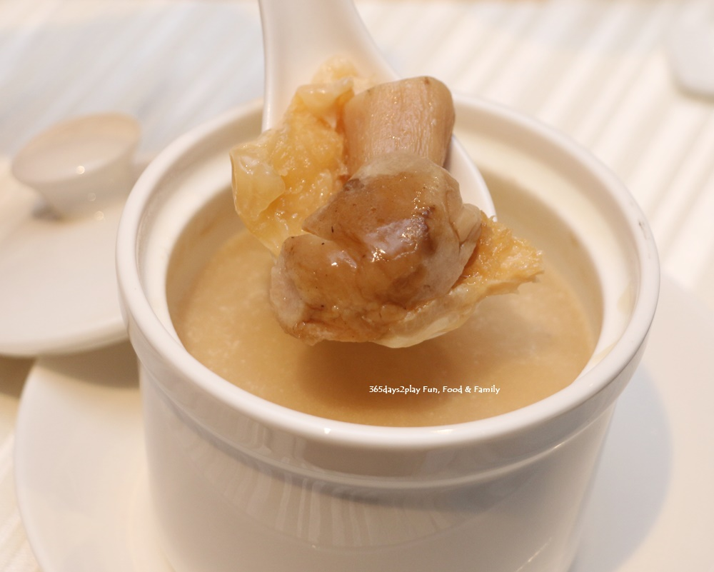 Wan Hao Marriott Chinese New Year Menu - Double boiled fish maw with boletus mushroom in almond superior stock