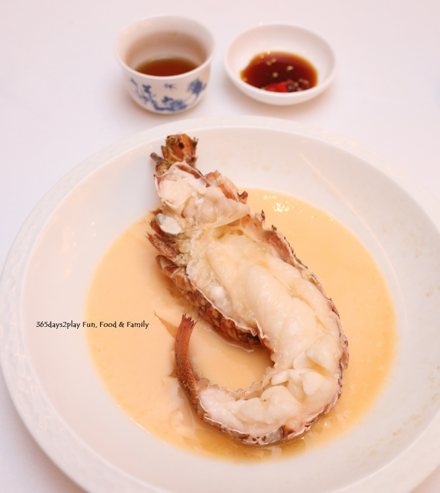 Steamed Half Lobster with 18 yr Nu Er Hong Rice Wine $20 per 100 grams