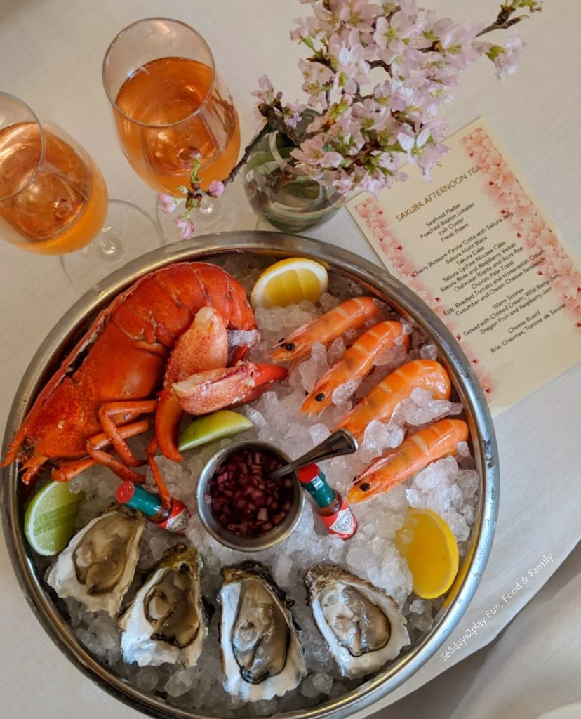Conrad Sakura Afternoon Tea - Seafood Platter ( Poached Boston Lobster, Irish Oyster, Fresh Prawn)