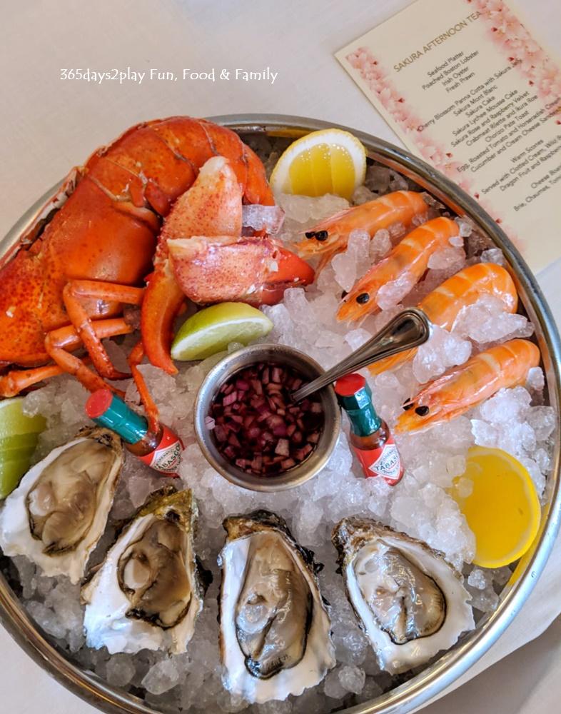 Conrad Sakura Afternoon Tea - Seafood Platter ( Poached Boston Lobster, Irish Oyster, Fresh Prawn)