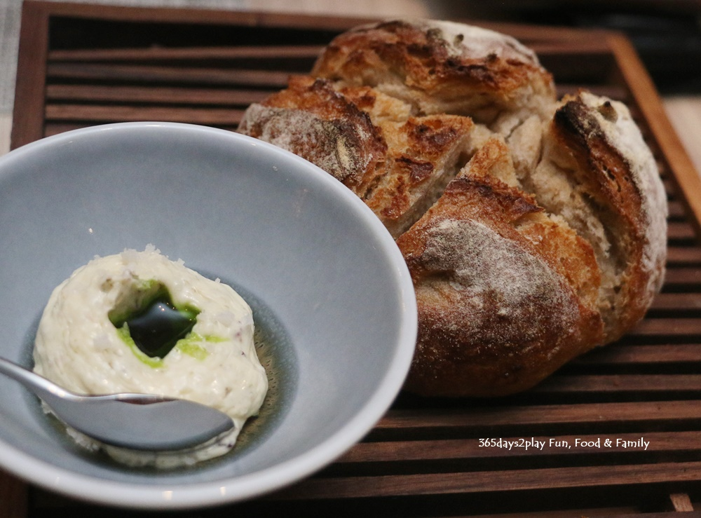 Artisanal Sourdough Bread with Seaweed Butter
