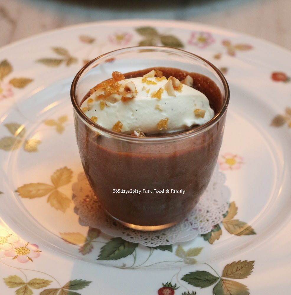 The English House - Bitter Chocolate Mousse with Hazelnut Nougatine