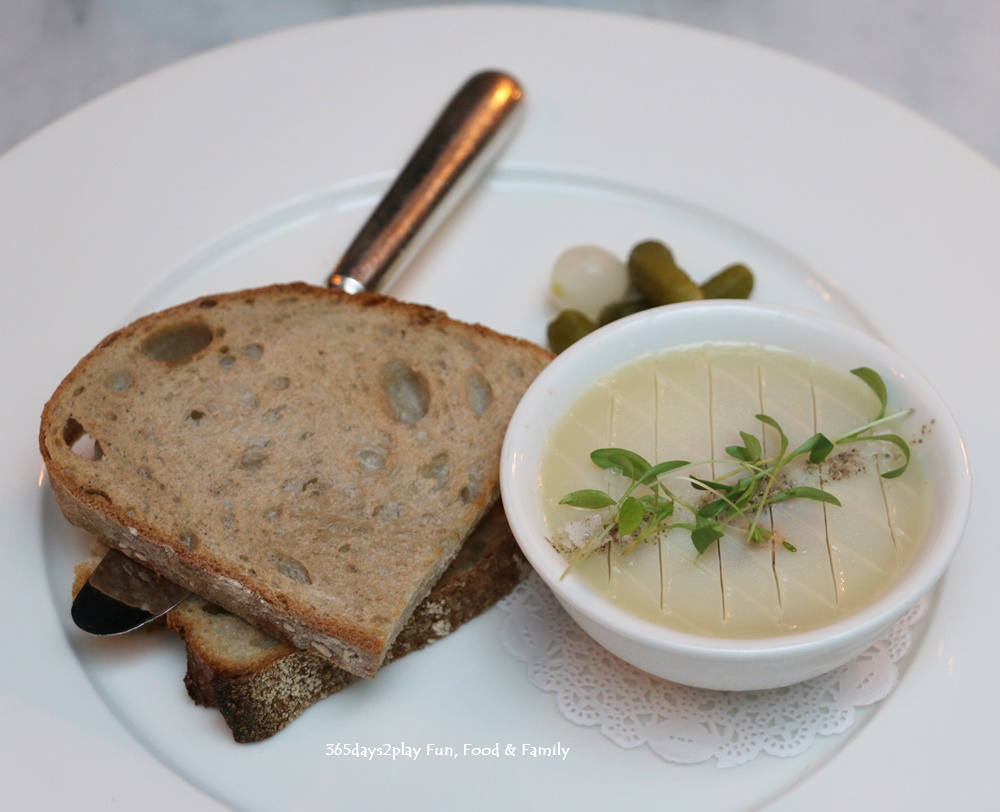 The English House - PArfait of Foie Gras au raisin sec