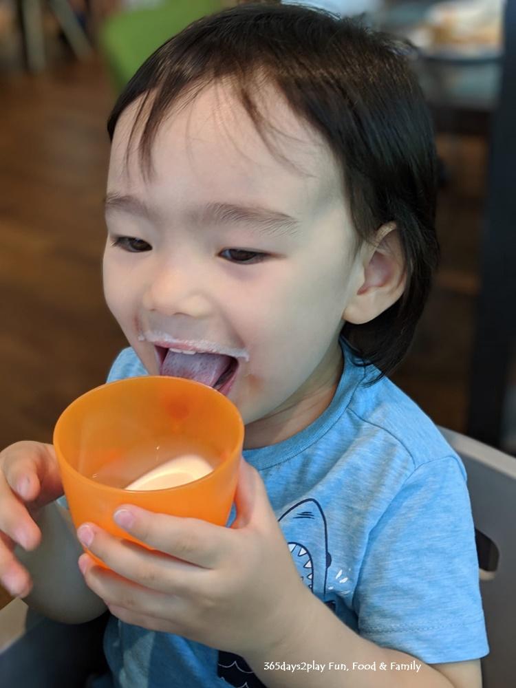 Amara Sanctuary Resort Sentosa - Happy Boy with Milk Moustache