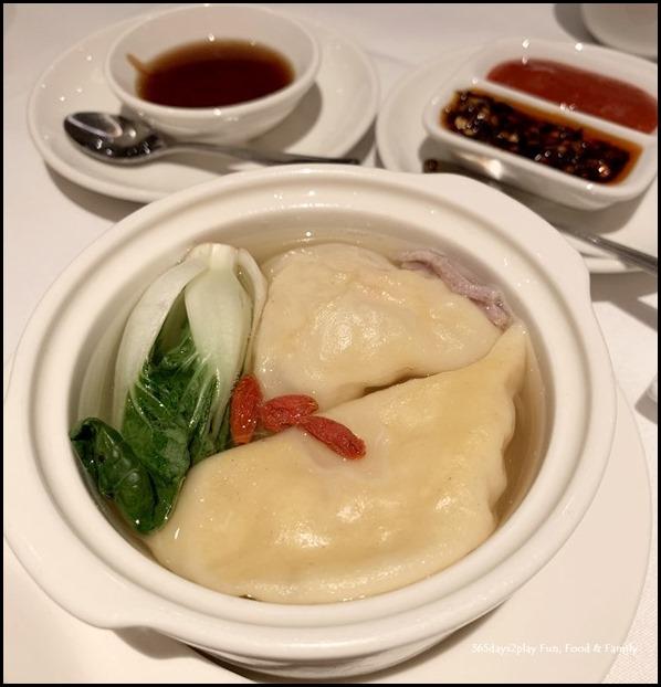 Crab Meat Dumpling Soup