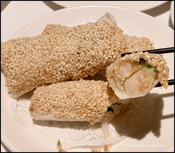 Paper Wrapped Prawns with Sesame seeds