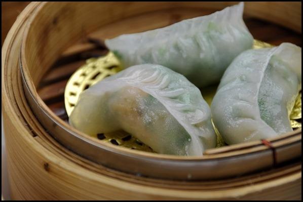 Prawn and chive dumplings