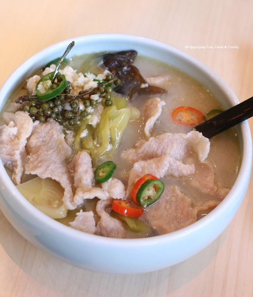 Crystal Jade La Mian Xiao Long Bao - Pork Collar with fresh Szechuan peppercorn & preserved vegetable soup $16.80