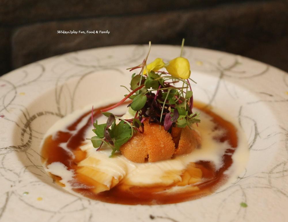 Teppan Kappou Kenji - Soft Tofu Skin with Sea Urchin ($15)