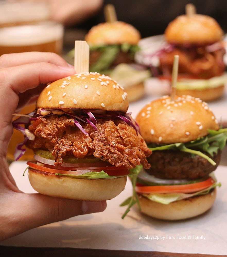 Marriott Crossroads Cafe - Buttermilk Fried Chicken Burger - $26 and Impossible Burger - $28