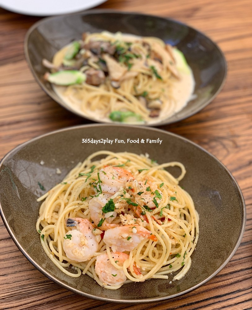 Farmers and Chefs - Aglio Olio Pasta with Prawns $13