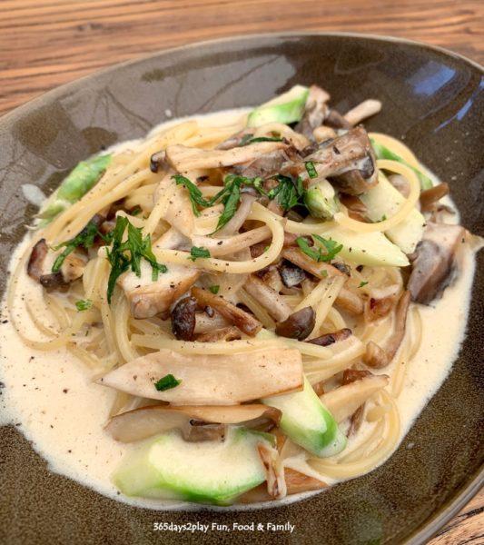 Farmers and Chefs - Truffle Mushroom Cream with Asparagus Pasta $14