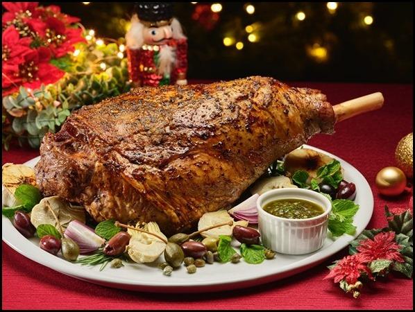 Rosemary _ Garlic Roast Lamb Leg (Bone-In) with Chimichurri, Artichokes _ Capers