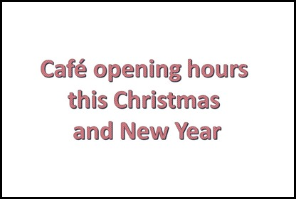 Cafes open this christmas