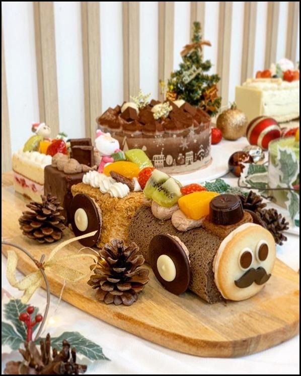 Chateraise Xmas Train Cake