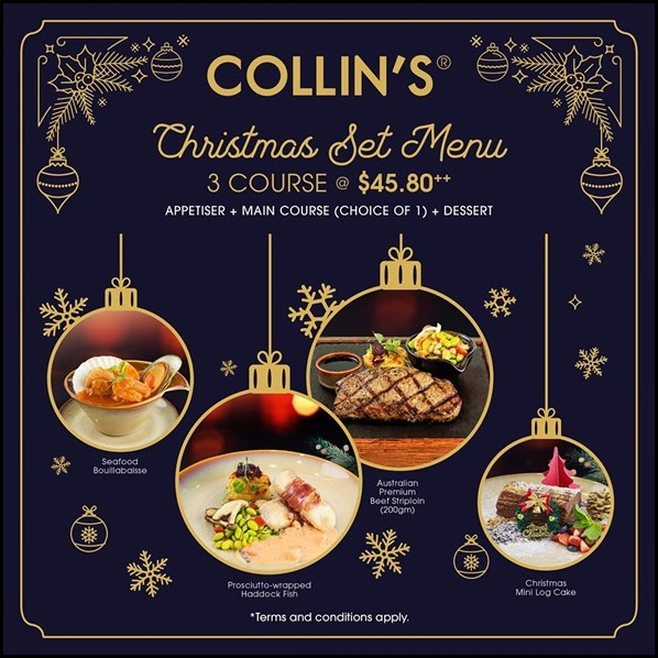 Collins Christmas Menu