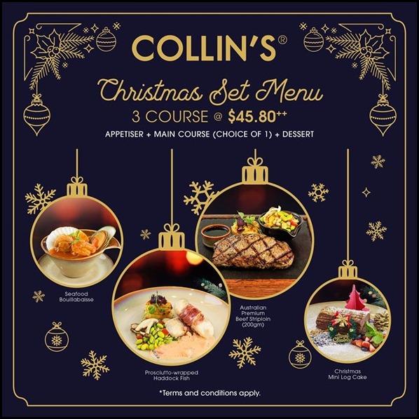 Collins Christmas Menu