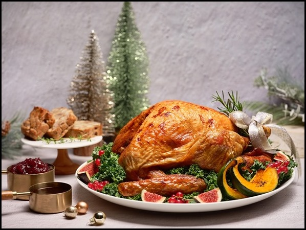 One-Ninety - Oven-Roasted Organic Turkey with Chestnut Stuffing, homemade Cranberry and Rosemary Sauce