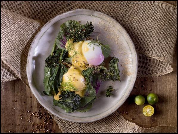 Organic Eggs Benedict, Calamansi _Hollandaise_ Sauce