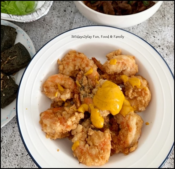 The Famous Kitchen - Salted Egg Prawns with Italian Sauce