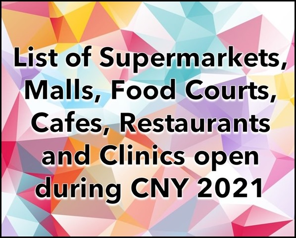 What is open during Chinese New Year 2021 Singapore (2)